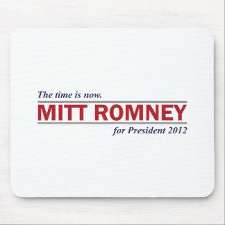 Mitt Romney para el presidente 2012 el tiempo ahor Alfombrillas De Ratón