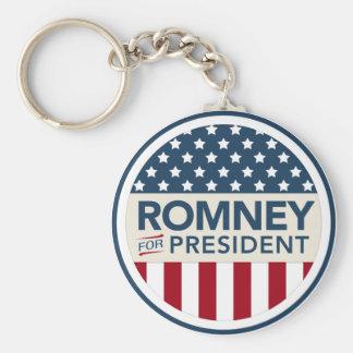 Mitt Romney para el presidente 2012 (estilo de la  Llavero Redondo Tipo Pin