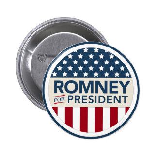 Mitt Romney para el presidente 2012 (estilo de la  Pin Redondo De 2 Pulgadas