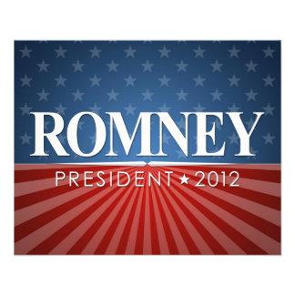 Mitt Romney para el presidente 2012 Tarjetas Publicitarias