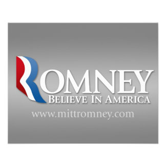 Mitt Romney para el presidente 2012 Tarjeta Publicitaria