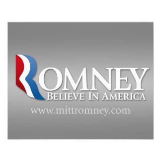 """Mitt Romney para el presidente 2012 Folleto 4.5"""" X 5.6"""""""
