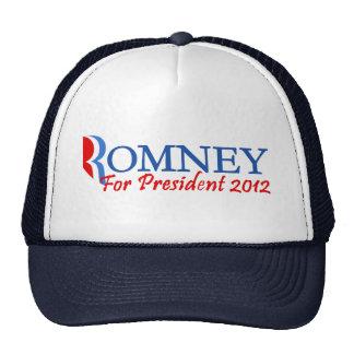 Mitt Romney para el presidente 2012 Gorro De Camionero