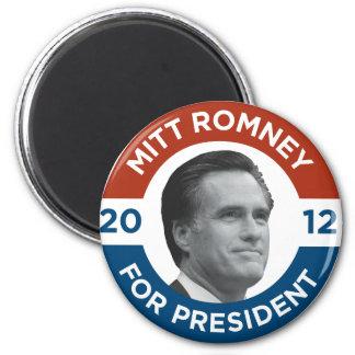 Mitt Romney para el presidente 2012 Imán Redondo 5 Cm