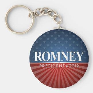 Mitt Romney para el presidente 2012 Llavero Personalizado
