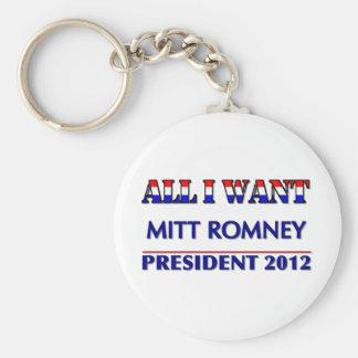 Mitt Romney para el presidente 2012 Llaveros