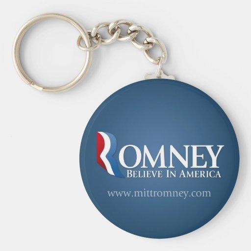 Mitt Romney para el presidente 2012 Llavero Redondo Tipo Pin