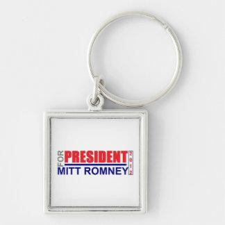 Mitt Romney para el presidente 2012 llavero cuadra