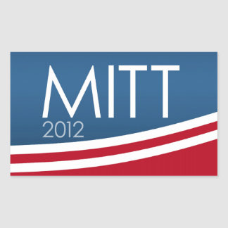 Mitt Romney para el presidente 2012 Pegatina Rectangular