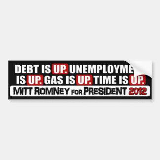 Mitt Romney para el presidente - 2012 Pegatina Para Auto