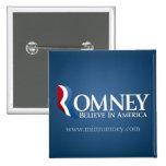 Mitt Romney para el presidente 2012 Pin