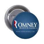 Mitt Romney para el presidente 2012 Pin Redondo 5 Cm