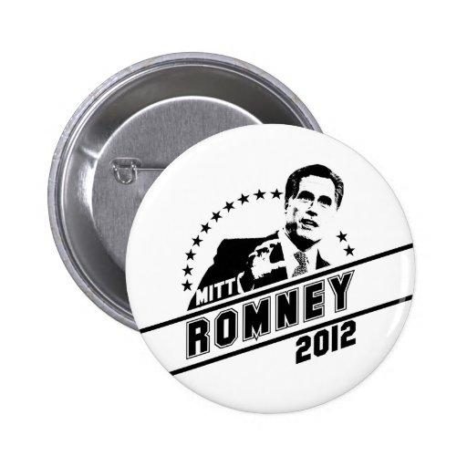 Mitt Romney para el presidente 2012 Pin Redondo De 2 Pulgadas