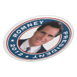 Mitt Romney para el presidente 2012 placa conmemor Platos Para Fiestas