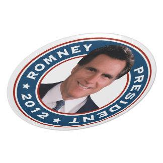 Mitt Romney para el presidente 2012 placa conmemor Platos