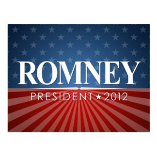 Mitt Romney para el presidente 2012 Postal