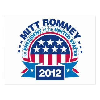 Mitt Romney para el presidente 2012 Tarjeta Postal