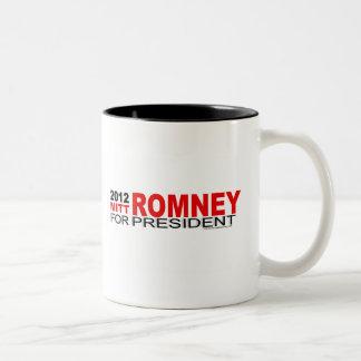 Mitt Romney para el presidente 2012 Taza De Café De Dos Colores