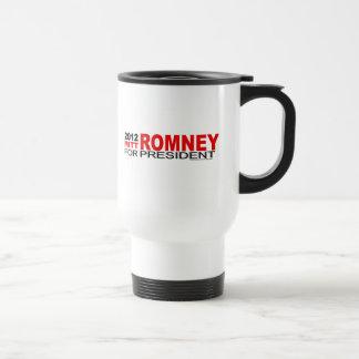 Mitt Romney para el presidente 2012 Taza De Viaje