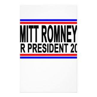 MITT ROMNEY PARA el PRESIDENTE 2016 camisetas .png Papelería Personalizada