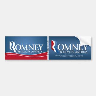 Mitt Romney para el presidente - BOGO Pegatina Para Auto