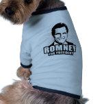 Mitt Romney para el presidente Camiseta De Mascota