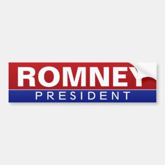 Mitt Romney para el presidente - diseño clásico Pegatina De Parachoque