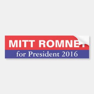 Mitt Romney para el presidente en 2016 Pegatina Para Auto