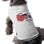 Mitt Romney para el presidente estrella fugaz Camisas De Perritos