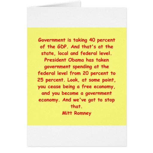 Mitt Romney para el presidente Felicitaciones
