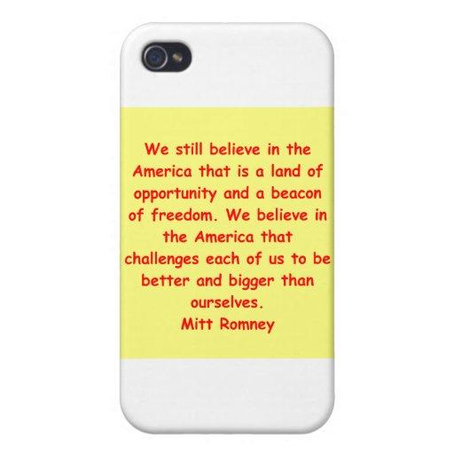 Mitt Romney para el presidente iPhone 4/4S Carcasas