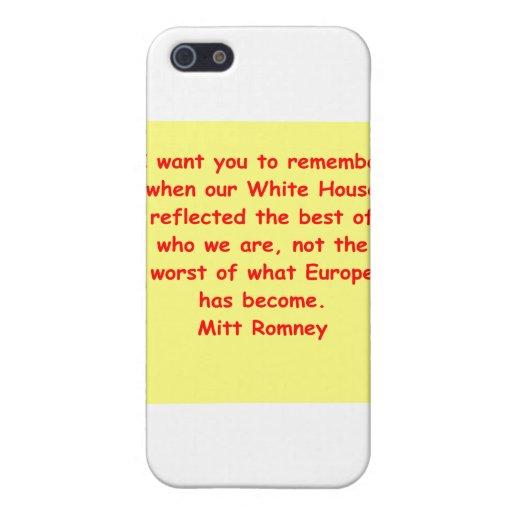 Mitt Romney para el presidente iPhone 5 Protectores