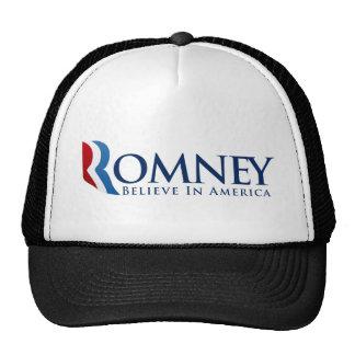 Mitt Romney para el presidente Gorras De Camionero