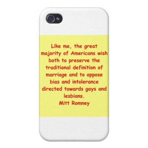 Mitt Romney para el presidente iPhone 4/4S Funda