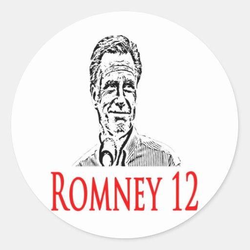 Mitt Romney para el presidente Pegatina Redonda