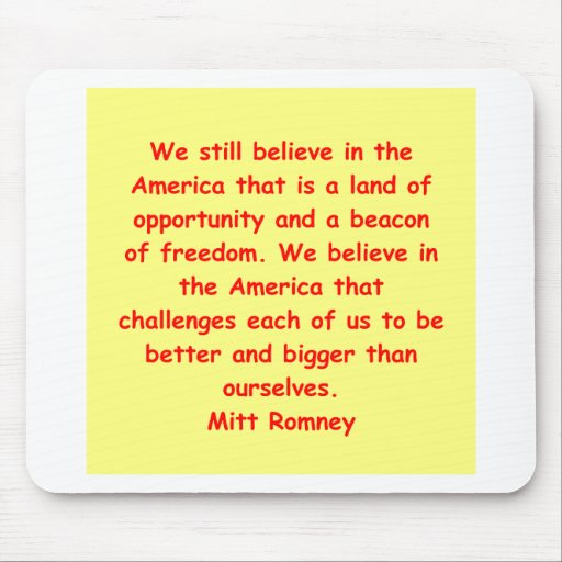 Mitt Romney para el presidente Alfombrillas De Ratón