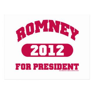 Mitt Romney para el presidente Tarjeta Postal