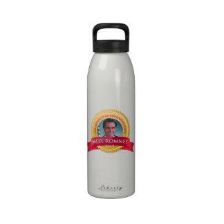 Mitt Romney para el sello 2012 del presidente oro Botellas De Agua Reutilizables