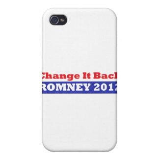 Mitt Romney para las barras y estrellas del presid iPhone 4 Cárcasa