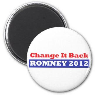 Mitt Romney para las barras y estrellas del presid Imán De Frigorifico