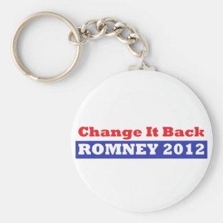 Mitt Romney para las barras y estrellas del presid Llaveros