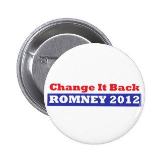 Mitt Romney para las barras y estrellas del presid Pin