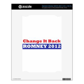 Mitt Romney para las barras y estrellas del presid Calcomanías Para El NOOK