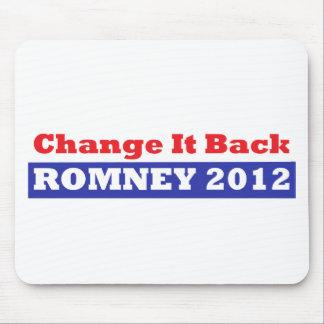 Mitt Romney para las barras y estrellas del presid Alfombrillas De Raton