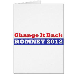 Mitt Romney para las barras y estrellas del presid Tarjeta