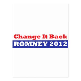 Mitt Romney para las barras y estrellas del presid Tarjeta Postal