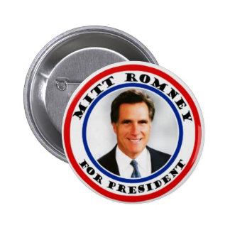 Mitt Romney para presiden el botón Pin Redondo De 2 Pulgadas