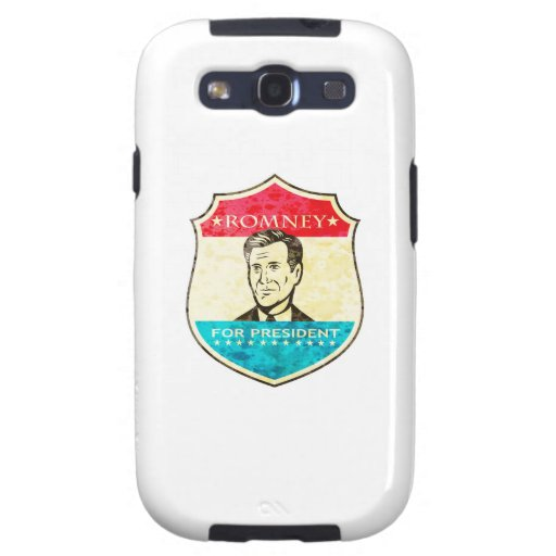 Mitt Romney para presidente americano Shield Galaxy S3 Fundas