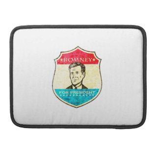 Mitt Romney para presidente americano Shield Funda Para Macbook Pro