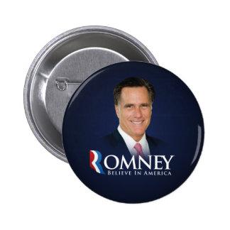 Mitt Romney para presidente Button Pin Redondo De 2 Pulgadas